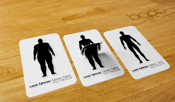 визитка тренера по фитнесу