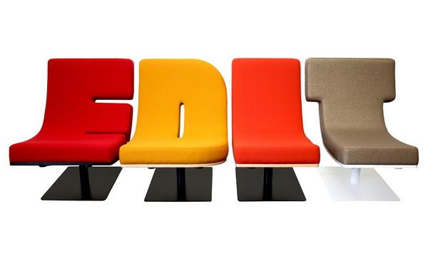 Кресла Typographia: говорящая мебель в действии