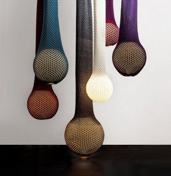 Трикотажные лампы от Ariel Zuckerman и Oded Sapir