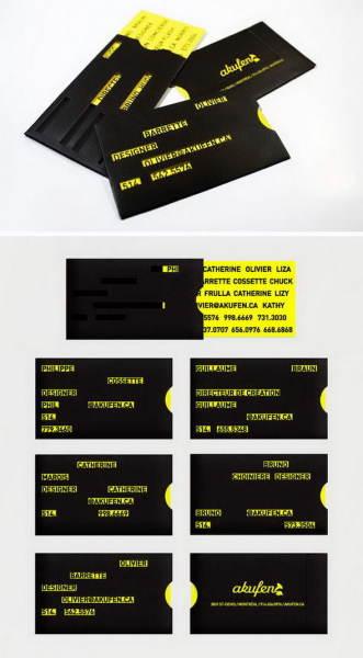 необычная многослойная визитка