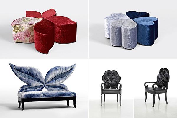 Цветочная мебель от компании  Sicis
