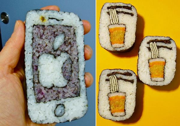 съедобный айфон: роллы с изображением гаджета