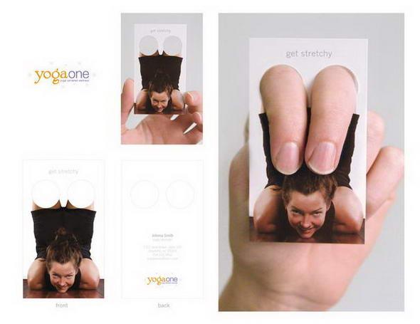 визитка инструктора по йоге