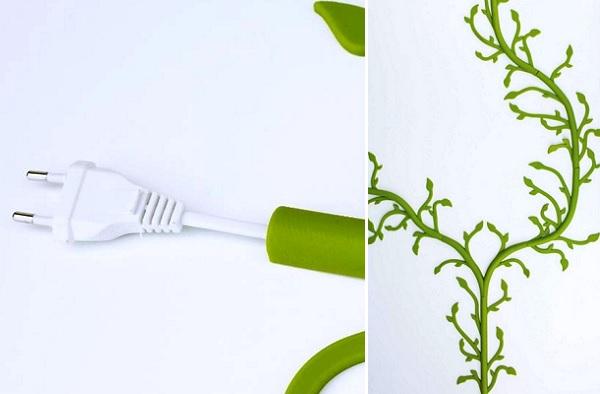 Florafil от Tania da Cruz - дизайнерский аксессуар для декорирования проводов
