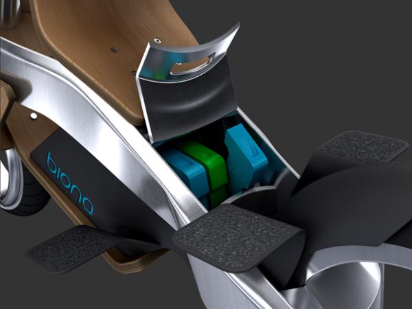 Biona имеет набор съемных батарей