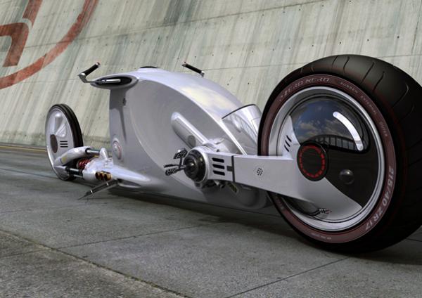 Концепт футуристичного байка Bugatti startos