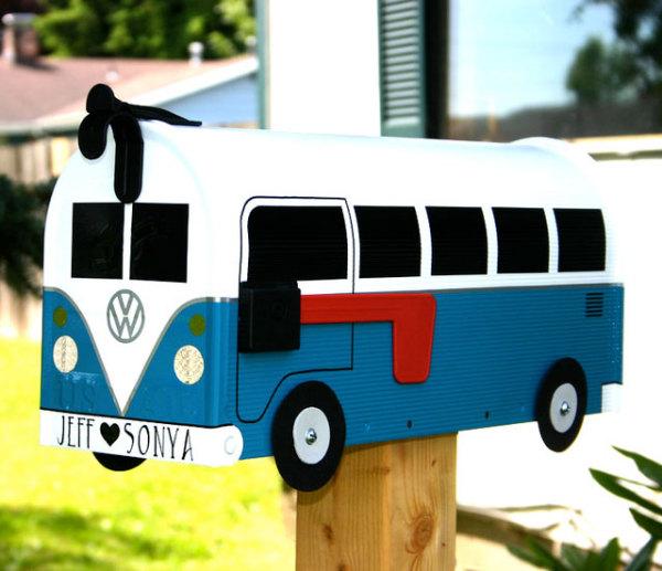 Почтовый ящик в виде автобуса
