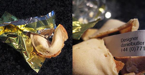 Визитка в печеньях желаний
