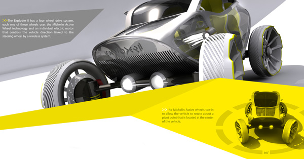 Внедорожник оснащен технологией Michelin Active Wheel