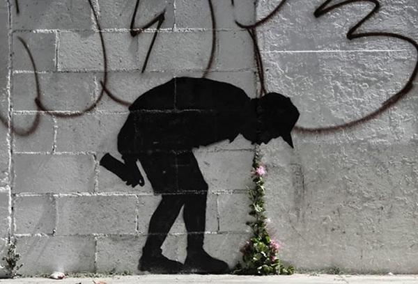 Уличный художник Banksy, Великобритания.