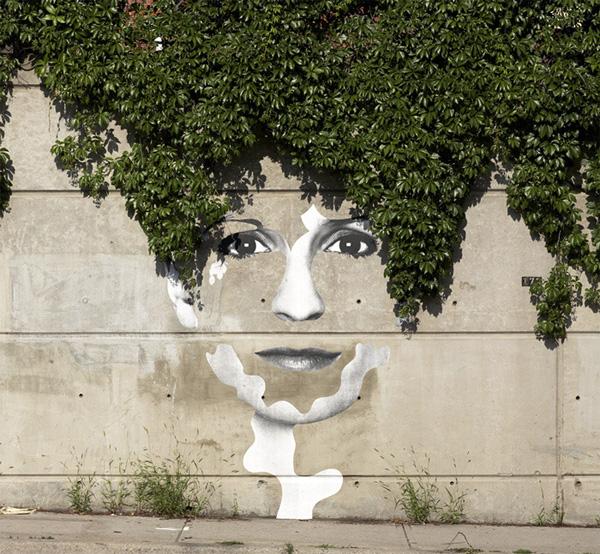 «Зеленый» стрит-арт. Художнык Dan Bergeron. Торонто, Канада.