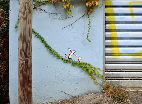 Стрит-арт художника из Франции по имени Oakoak