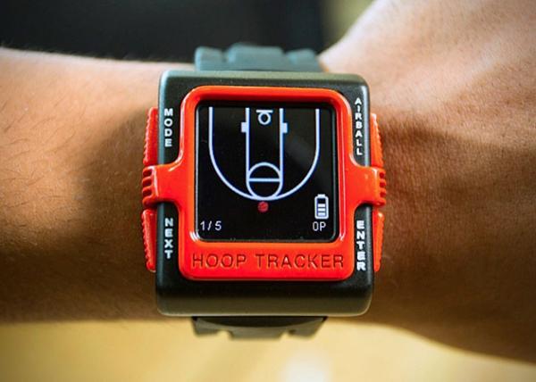 Часы Hoop Tracker ведут учет бросков