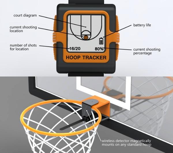 Часы и датчик Hoop Tracker