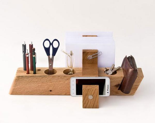 Wood Office Organizer