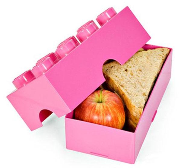 Коробка для обедов, стилизованная под лего