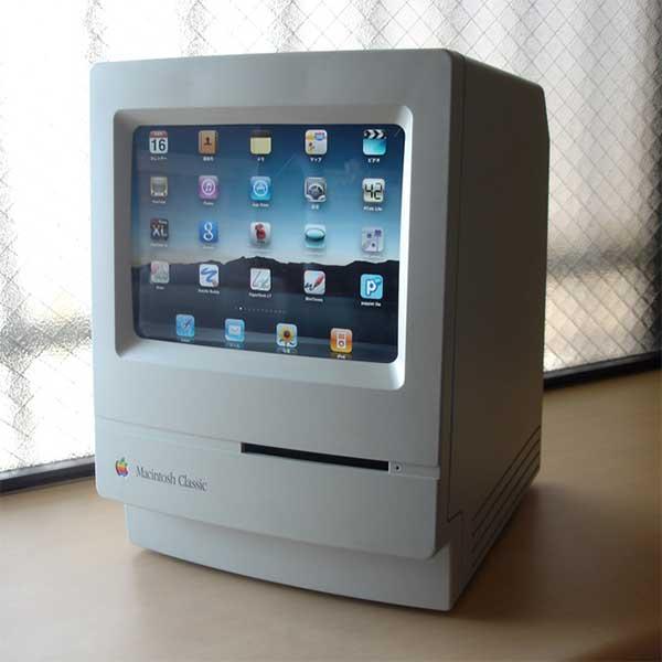 подставка для IPad, стилизованная под старый монитор