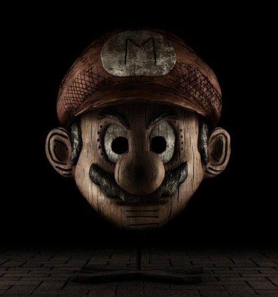 деревянный Марио