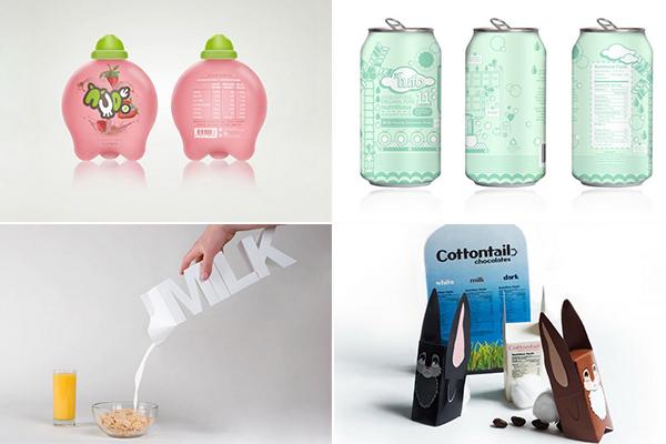Обзор необычных упаковок молока