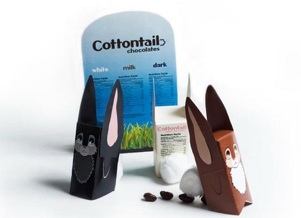 упаковка молока в виде зайца