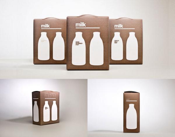 Упаковка молока с ручкой для переноски
