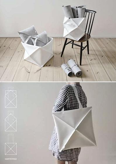 Omni Bag от Kumeko - холщовая сумка-оригами для походов и в пир, и в мир