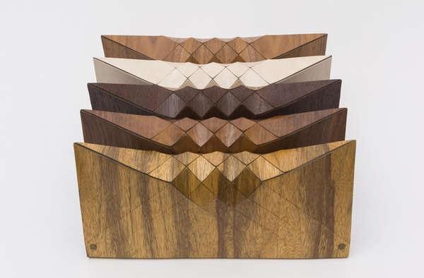 Tesler + Mendelovitch - деревянные клатчи-оригами от Artnau