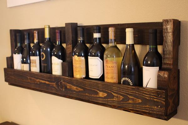 подставка для бутылок из деревянного поддона