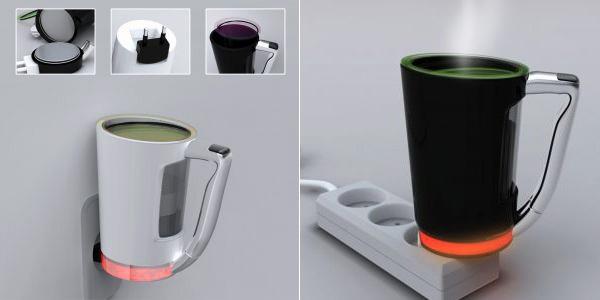 Чашка с подогревом Plug Cup питается от розетки