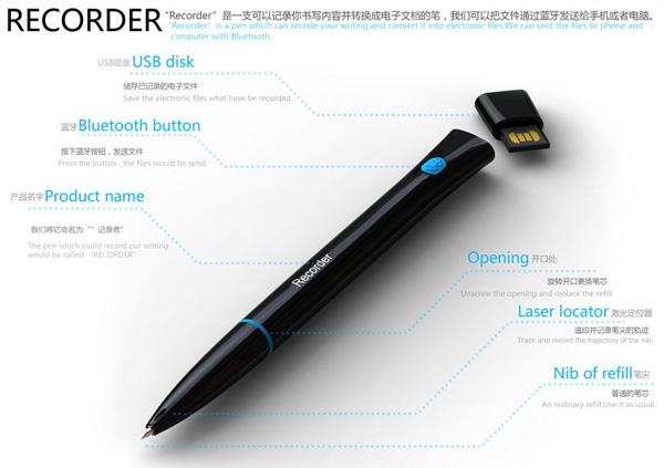 Устройство ручки Recorder