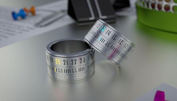 Ring Clock оснащены ультратонким LED-дисплеем