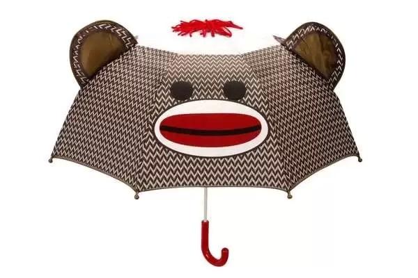Sock Monkey Umbrella - улыбчивый дизайнерский зонт для детей и взрослых