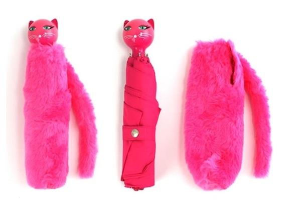 Pink Kitty Umbrella - яркий и удобный дизайнерский зонт от Vanina Crescioni