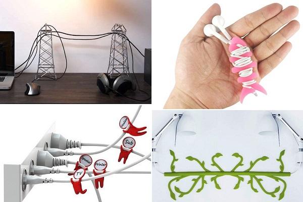 Дизайнерские аксессуары, упрощающие общение с кабелями и наушниками
