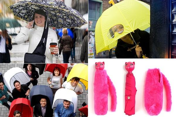 Яркие и удобные дизайнерские зонты, помогающие пережить осень