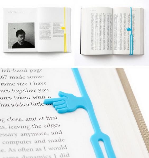 закладка для книг с фиксатором в виде ладошки