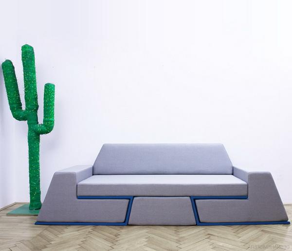 Многофункциональная мебель Prime Sofa: диван + 2 кресла + журнальный стол