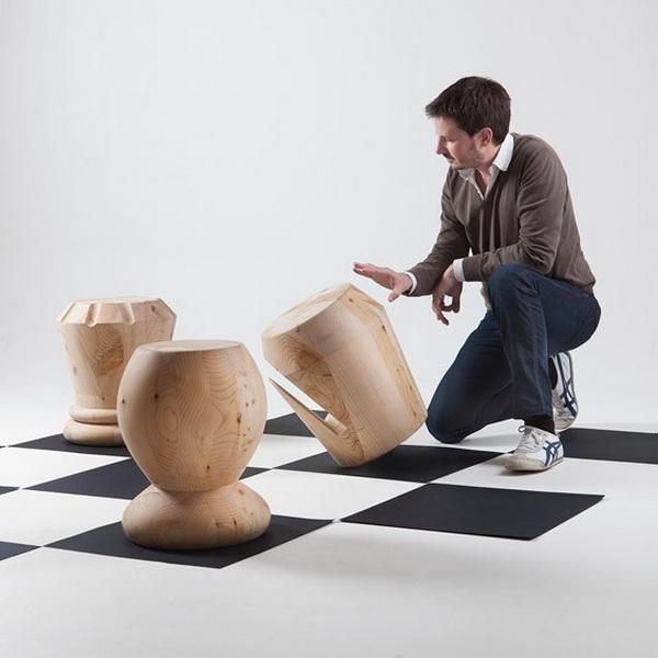Мебель в форме шахматных фигур