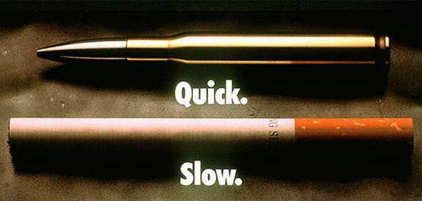 сигарета и пуля - один итог