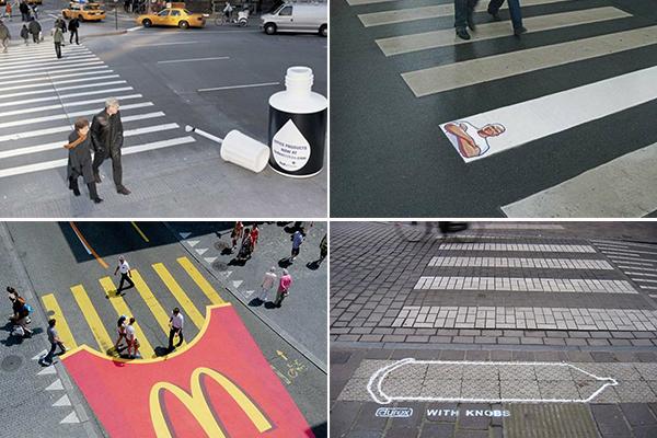 Обзор необычных пешеходных переходов