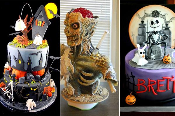 оформление тортов к хэллоуину