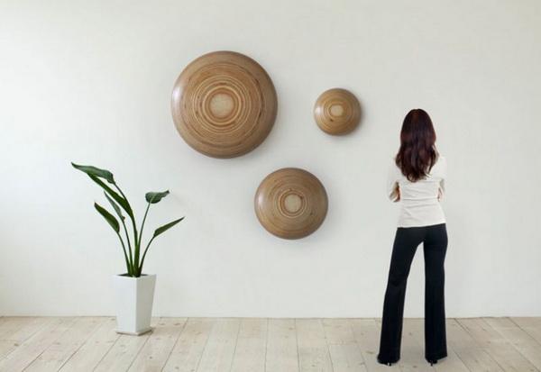 Деревянные декоративные таблетки на стену
