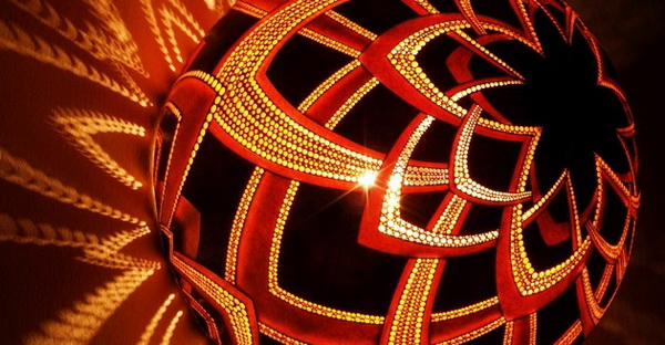 Светильники из тыквы CalabАrte от польского дизайнера Przemek Krawczynski