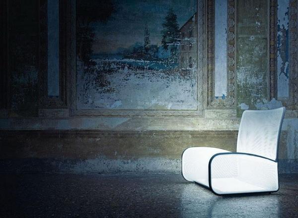 Кресло-светильник Nuvola Di Luce: верхом на облаке