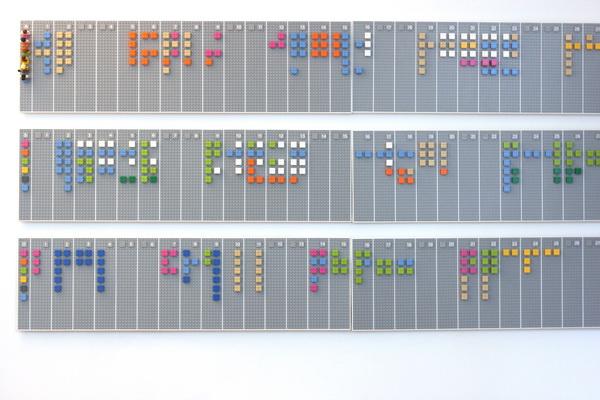 интерактивный календарь-планировщик ЛЕГО
