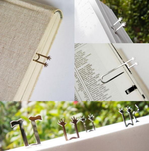 закладки для книг в виде ладошек