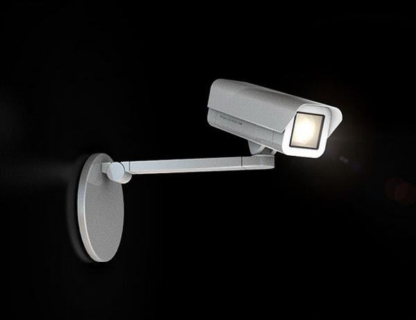 светильник в виде камеры видеонаблюдения