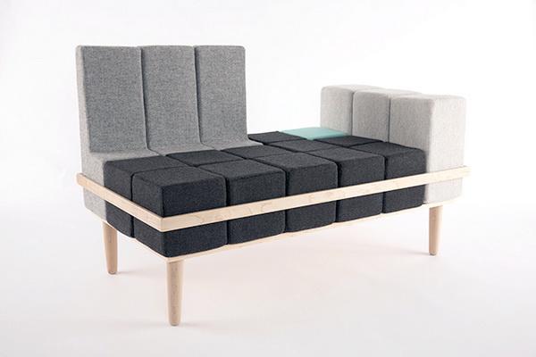 Модульный диван Bloc'd: для тех, кто любил собирать кубики
