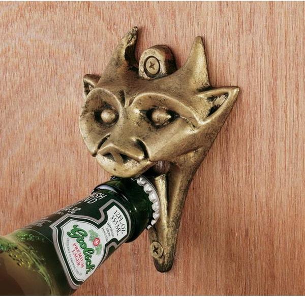 Горгулья - открывалка для пива из латуни