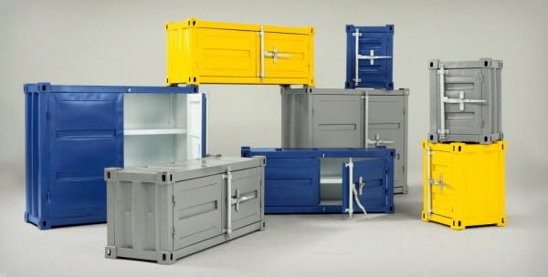 коллекция мебели, стилизованной под контейнеры Container Storage Collection